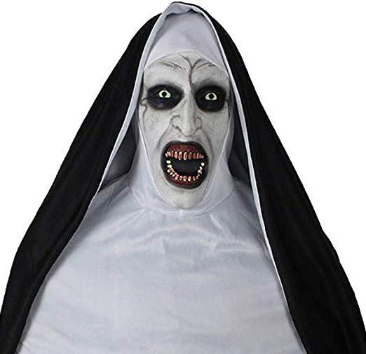 QCHNES Disfraz de Halloween Horror Máscara resplandeciente 2019 ...