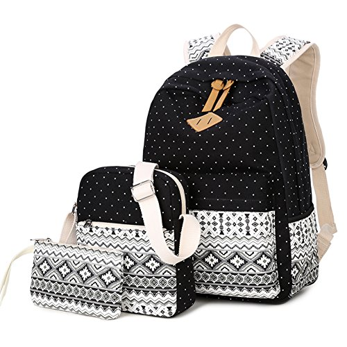 Cute School Canvas Backpack Casual Laptop Bag Shoulder Daypack for Teen Set of - Mp3 Sunglasses Instructions