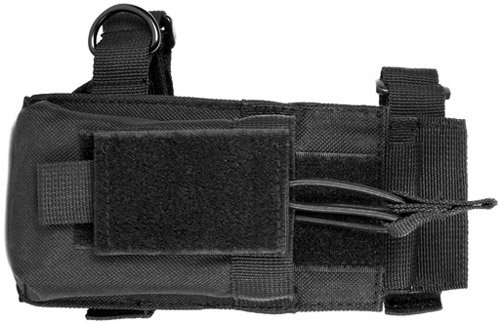 [Tactical Magazine Mag Pouch With Adaptor For Rifle Buttstocks Fits Ruger Mini14, Mini30, AR15, M16, Howa 1500, Remington 700, AK47, MAK90, Saiga, SKS] (Mini 14 Magazine)