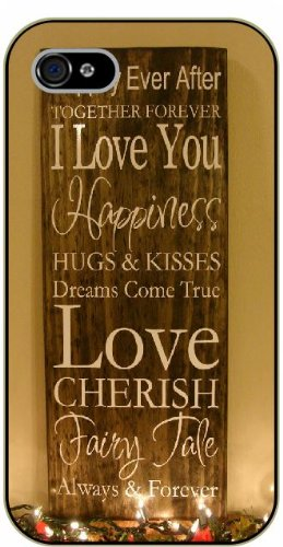 iPhone 6 Happily ever after, together forever I love you. Hugs and kisses, dreams come true - black plastic case / Life quotes, inspirational and motivational / Surelock Authentic