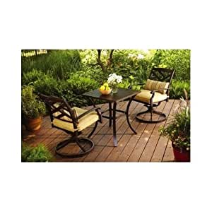Best patio furniture 3 piece porch garden for Small metal patio set