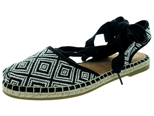 Toms Women's Bella Espadrille Black Woven Sandal 9 Women US
