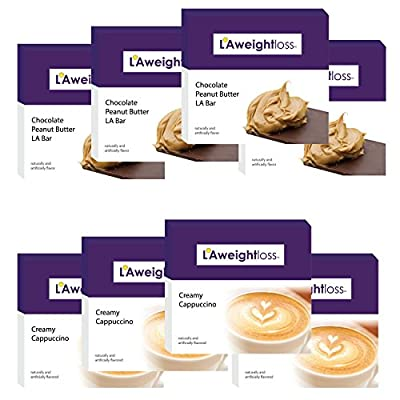 LA Weight Loss Lites - Chocolate Peanut Butter & Creamy Cappuccino - 8 Boxes
