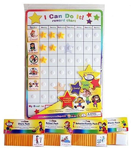 (I Can Do It! reward chart supplemental pack bundle, behavior, chore, school and blanks.)