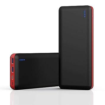 Power Bank 25800mAh, Cargador Portátil con 4 Puertos (2 Puertos USB, 1 Tipo C y 1 Micro USB), Carga Rápida Bidireccional 3.0, Doble Entrada Batería ...