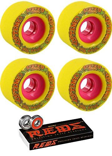 70 mm Remember Optimo Longboard Skateboard Wheels with Bones Bearings – 8 mm Bones Reds Precisionスケート定格スケートボードベアリング – 2アイテムのバンドル   B01N31BJSZ