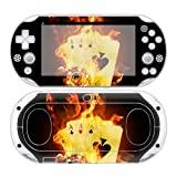 CSBC Skins Sony PS Vita 2000 Design Foils Faceplate Set - Burning Cards Design