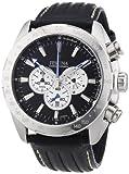 Festina Men's Crono F16489/9 Black Leather Analog Quartz Watch with Black Dial