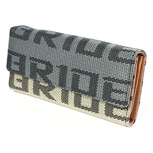 Kei Project Bride Racing Women's Ladies Wallet Clutch Trifold Fabric Leather Bride Gradation (Tan Beige)