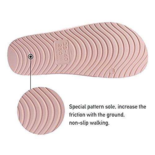 BESIDESTAR Bath and Slipper House Sandals Soft Anti Smile Toe Indoor Men for Women Slippers pink Slip Unisex Leisure Open ZYqfwnZx