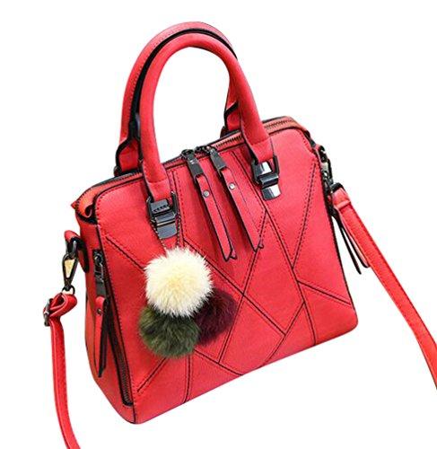 Style Sac Rouge Messenger à Bandoulière Capacité Rétro à Baymate Sac à Main Grande Main Femme Sac 6T5Zqg