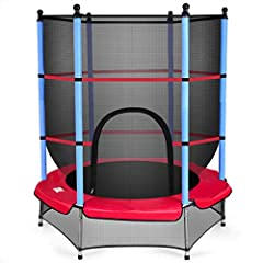 Description This 55'' round jumping trampoline is idealfor kids to bounce their ways to have fun. The padded protective frame and netkeep kids from injury during jumping. The easily collapsible design gives moreconvenience for storage, mainte...