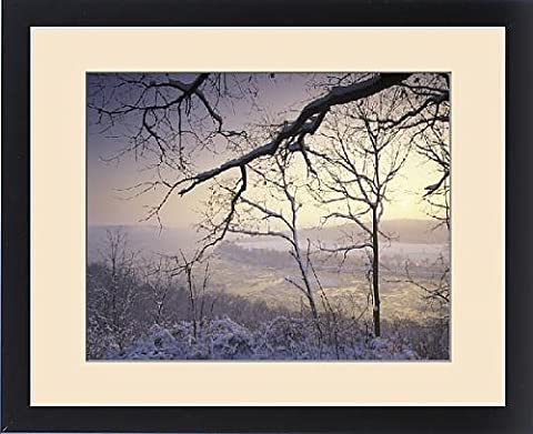 Framed Print of N.A., USA, Tennessee. Great Smokey Mountains National Park, Cades Cove. Snow - Cades Cove Smokey Mountains
