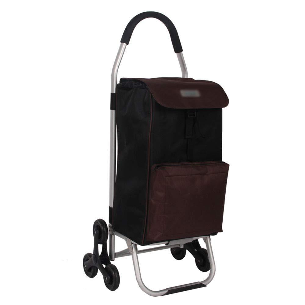 アルミ登山階段携帯用ショッピングカート折りたたみ式ショッピング用小荷物カートA +(色:D) B07SM7BKCD D