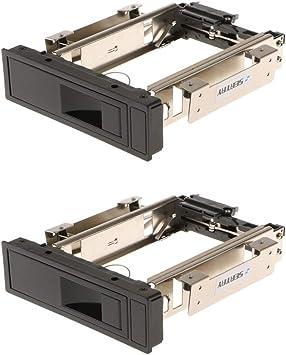 2点セット 3.5インチSATA HDD ハードディスク モバイルラック トレイ不要 ホットスワップサポート ステンレス