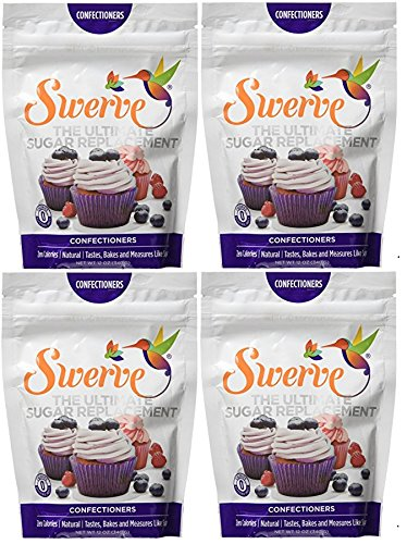 Swerve Sweetener, Confectioners, 12 Ounces (Pack of 4) by Swerve