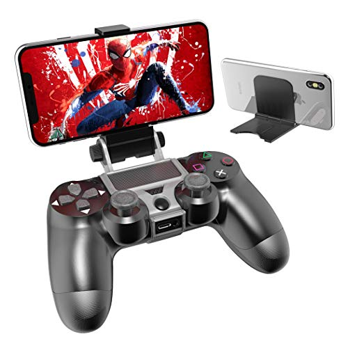 PS4 Controller Phone Remote Play Mount, OIVO PS4 Controller Clip Clamp Mount Holder with Adjustable Stand for Playstation 4 Controller from OIVO