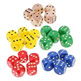 Dovewill Set of 25 Wooden D6 Dice 5cm Gaming Dice for D&D RPG MTG Accessories
