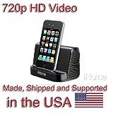 SecureGuard HD 720p iPhone iPod Speaker Spy Camera Covert Hidden Nanny Camera Spy Gadget
