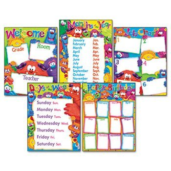 Learning Chart Combo Pack Furry Friends Classroom Basics 17w x 22 5/Pack (Halloween Themed Teaching Ideas)