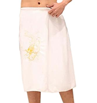 Toalla de baño para hombres Toalla de toalla para toallas, suave y absorbente, Ripple White: Amazon.es: Hogar