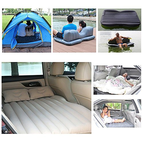 Price comparison product image Best Truck SUV Bed Car Seat Air Mattress Pad Ford F150 Chevy Toyota Tacoma Gray