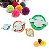 4 Sizes Pompom Maker Set for DIY Pompom Kit Fluff Ball Weaver Maker Knitting Craft Tool Kit