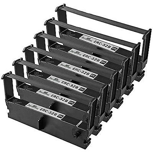 (Epson ERC-32B Ribbon Black 10 Ribbons-Case for H-6000 and U-675 Printers)