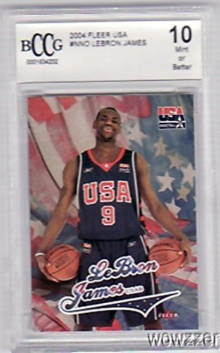 2003/04 Fleer USA Lebron James Rookie BECKETT 10 MINT ! Awesome High Grade Rookie of Olympic and THREE TIME NBA Champion Cleveland Cavaliers! Shipped in Ultra Pro Graded Card Sleeve to Protect it !