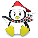 Soulbreezecollection Santa Clause Hat Muffler Penguin Brooch Pin Christmas Jewelry