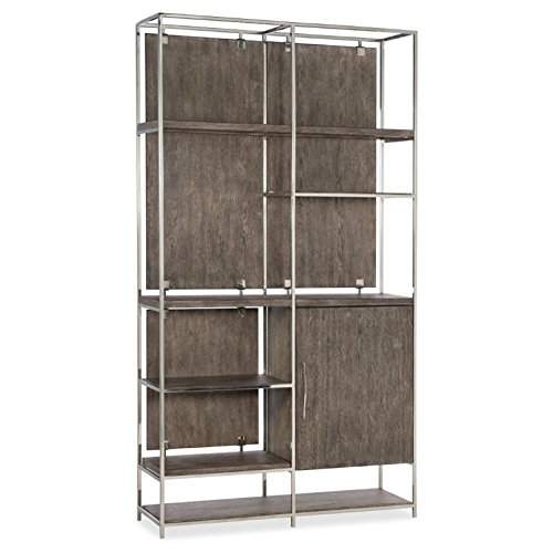 Hooker Furniture Storia Bookcase in Medium Wood Lateral File Console