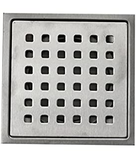 Estylo Stainless Steel Drain Cover Floor Jali Square Vertical 4 X 4