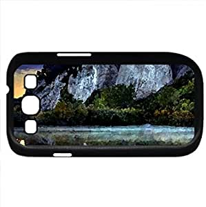Mountain Reflection (Mountains Series) Watercolor style - Case Cover For Samsung Galaxy S3 i9300 (Black)