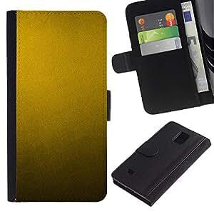 LASTONE PHONE CASE / Lujo Billetera de Cuero Caso del tirón Titular de la tarjeta Flip Carcasa Funda para Samsung Galaxy Note 4 SM-N910 / Metal Pattern Rustic Yellow Metallic