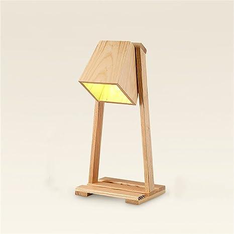 Lámpara de escritorio yongjun, columpio de madera diseño LED ...