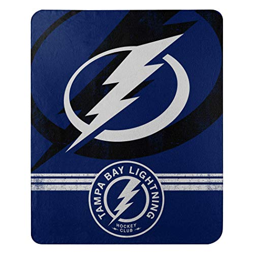 The Northwest Company Officially Licensed NHL Tampa Bay Lightning Fade Away Fleece Throw Blanket, 50