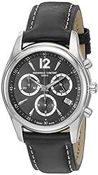 Frederique Constant Men's FC-292BS4B26 Junior Black Chronograph Dial Watch