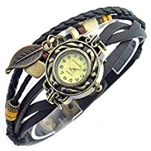 SINCEDA Women's Watch Black Maple Leaf Decoration All-match Fashion Watches