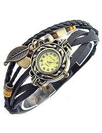 SINCEDA Women's Watch Black Maple Leaf Decoration All-match Fashion Watches