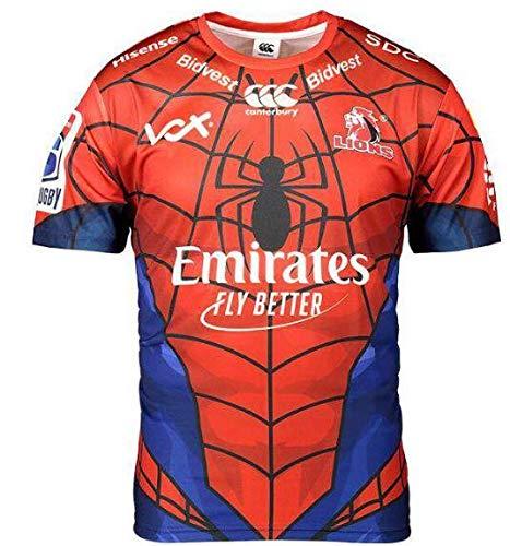 2019-2020 Super Rugby LIONS 2019 スパイダーマン ジャージ スーパーラグビー/記念版 ユニホーム サイズS-XXXL