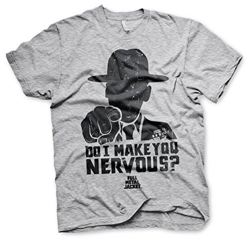 Officially Licensed Full Metal Jacket - Do I Make You Nervous Men's T-Shirt (Heather Grey), Medium
