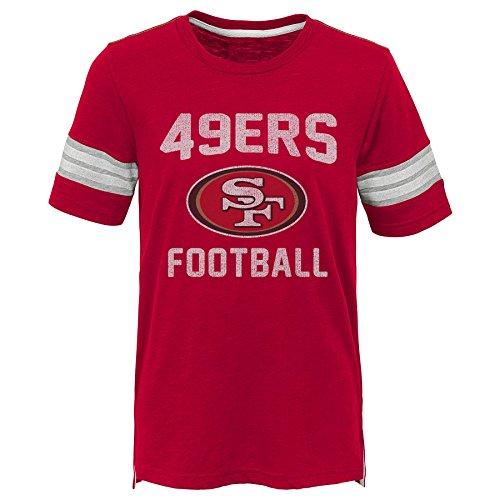 Outerstuff NFL NFL San Francisco 49ers Kids Prestige Short Sleeve Crew Neck Tee Crimson, Kids Medium(5-6) -