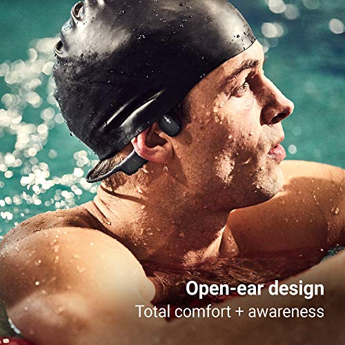 AfterShokz Xtrainerz Open Ear MP3 Bone Conduction Headphones, Black Diamond