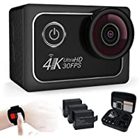 Action Camera 4K Waterproof Cam 16MP Ultra HD 30fps with Wifi Remote Control 173 Degree Wide Angle Metal Surface Cover DV CMOS-Sensor sport camcorder 2 inch RGB Screen
