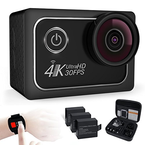 Action Camera 4K Waterproof Cam 16MP Ultra HD 30fps with ...