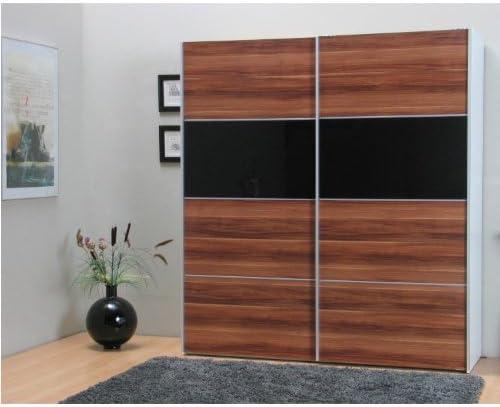 VERONA - armario ropero con puertas correderas, madera de nogal: Amazon.es: Hogar