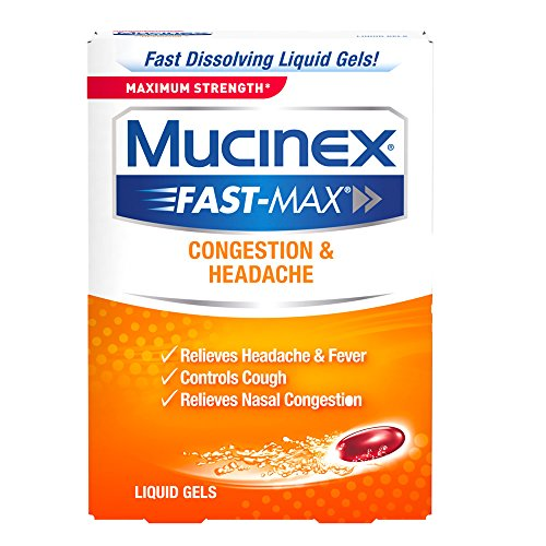 Mucinex Fast-Max Max Strength, Congestion & Headache Liquid Gels, 16ct