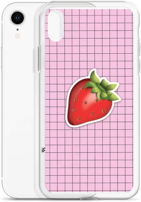 Robertsshop Aesthetic Strawberry Emoji On Grid Tumblr Case Cover Compatible For Iphone 6 6s Amazon Ca Cell Phones Accessories Download strawberry emoji stickers and enjoy it on your iphone, ipad and ipod touch. amazon ca
