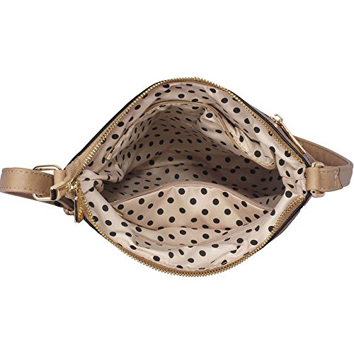 TrendStar - Bolso bandolera Mujer A-Taupe Cross Body Bag