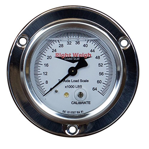 250-64-FF Tri-Axle Liquid-Filled Exterior Analog Axle Load Scale - for Single Height Control Valve Air Suspensions